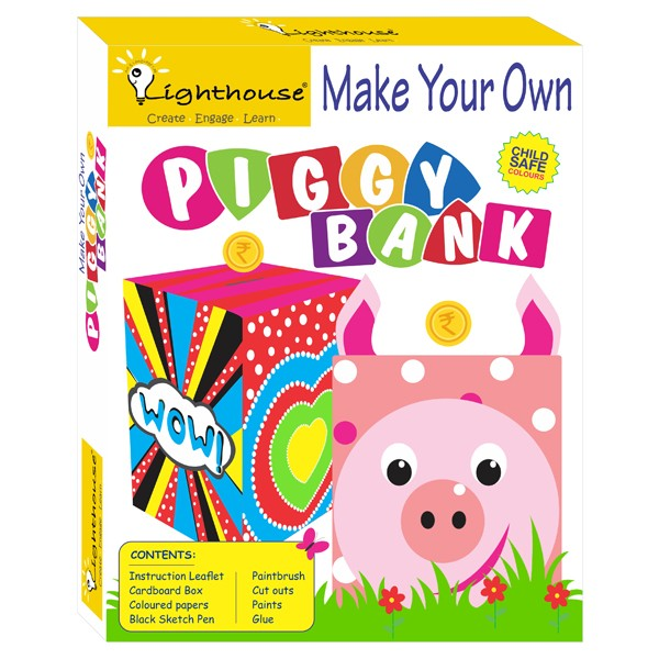 Make your own piggy bank art craft toys for Create your own piggy bank