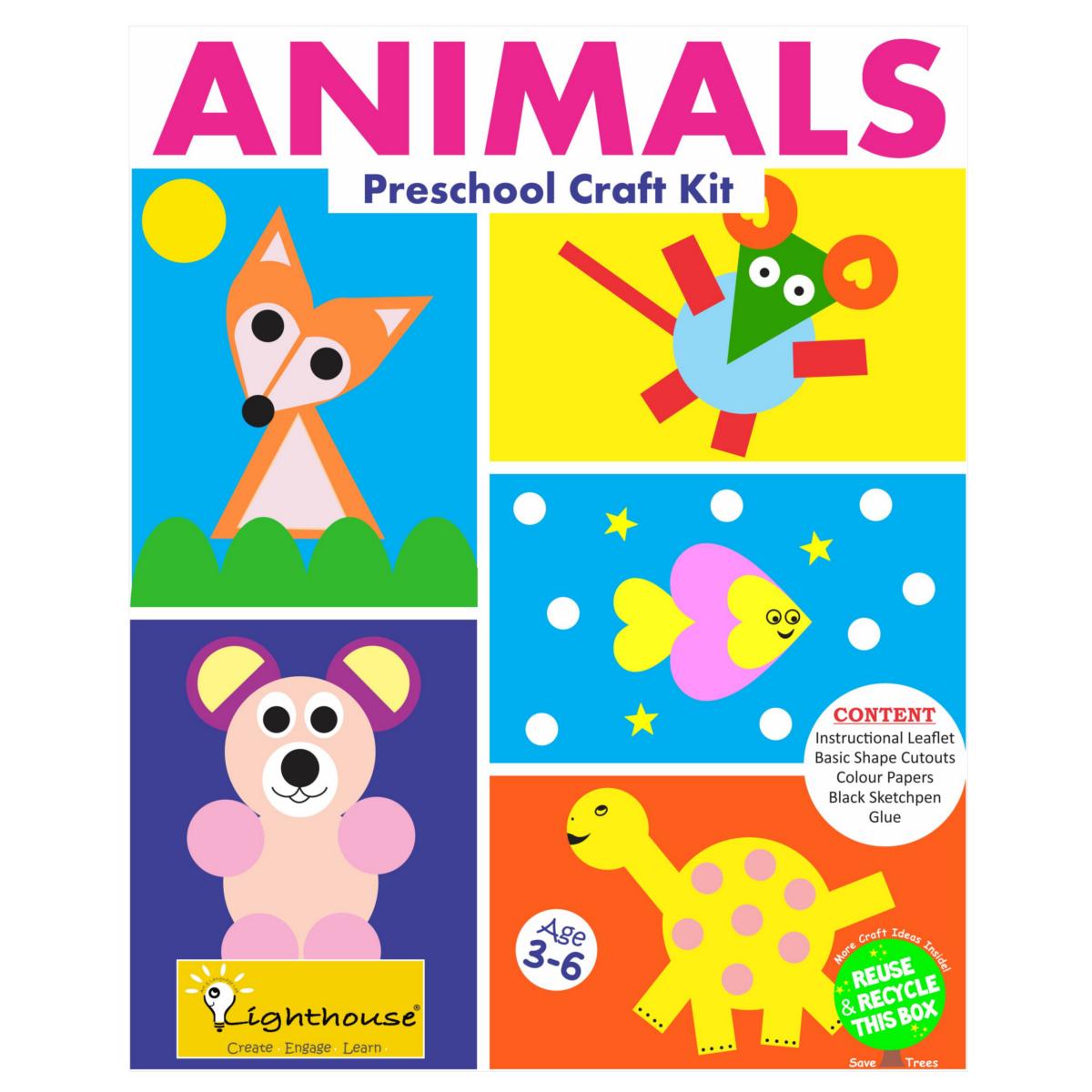 Make your own animal preschool craft kit art craft toys for Craft kits for preschoolers