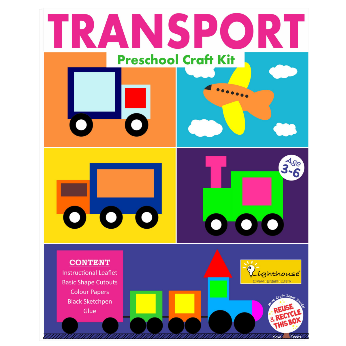 Make Your Own Transport Preschool Craft Kit